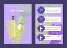 Wine Choice and Menu Card Vector Illustration Stock Photo
