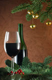 Wine at christmas Royalty Free Stock Photography