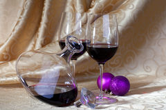Wine and Christmas Royalty Free Stock Image