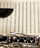 Wine & Clarinet Stock Photography