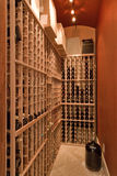 Wine Closet. A wine cellar in a closet. Good use of a small space for a wine collection stock photo