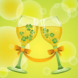Wine with Clover Stock Image