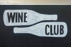 Wine Club. A wine club sign at a New York City store royalty free stock photo