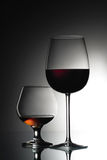 Wine and cognac Stock Image