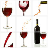 Wine collage. Collage of wine drink related pictures made from nine images Royalty Free Stock Images
