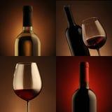 Wine collage stock image