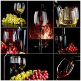 Wine collage Stock Photos