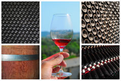 Wine collage. Royalty Free Stock Images