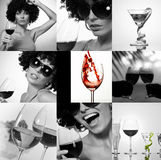 Wine collection stock photography
