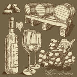 Wine collection Royalty Free Stock Image