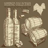 Wine collection Stock Photos