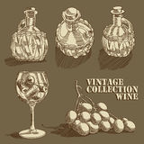 Wine collection Stock Photo