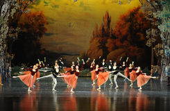 The wine and the collective dance-The first screen banquet-ballet Swan Lake Royalty Free Stock Image