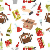 Wine Color Seamless Pattern Stock Photography