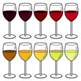 Wine colour vector Stock Image