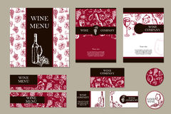 Wine company. Restaurant theme. Corporate identity. Document tem Royalty Free Stock Photography