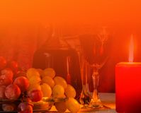 Wine composition background with copy space stock photos