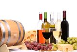 Wine composition. Is located on the white background Stock Image
