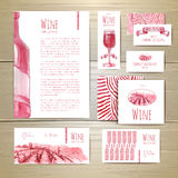 Wine concept design. Corporate identity Stock Photos