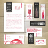 Wine concept design. Corporate identity Royalty Free Stock Photos