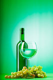 Wine concept with gradient Royalty Free Stock Photos