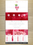 Wine concept web site design. Royalty Free Stock Photos