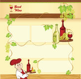 Wine concept for web template Royalty Free Stock Photo