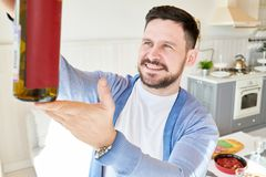 Wine Connoisseur at Home stock photos
