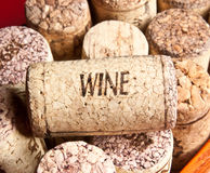 Wine cork. With the words wine Stock Image