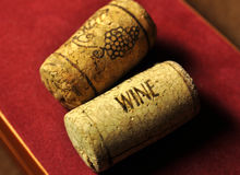 Wine cork. With the words wine Royalty Free Stock Photo