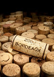 Wine cork. With the word bordeaux Stock Photos