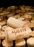 Wine cork. With the word aligote Stock Photography