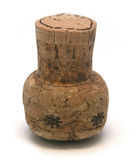 Wine cork. Decorated wine cork on a white background Stock Photography