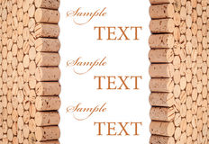 Wine cork background Royalty Free Stock Photos