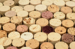Wine cork background. Close up wine corks ends placed evenly Royalty Free Stock Photo
