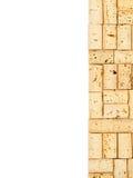Wine cork border Stock Images