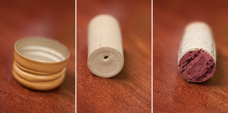Wine cork comparison Stock Photography