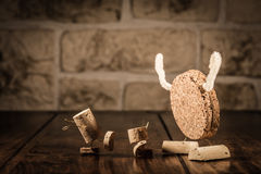 Wine cork figures, Concept Bogeyman and Children Royalty Free Stock Photos