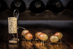 Wine cork figures, Concept Royalty Free Stock Photography