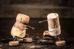Wine cork figures, Concept sport of sumo Stock Photography