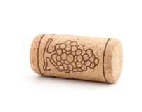 Wine cork with grape illustration Stock Images