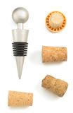 Wine cork isolated on white Royalty Free Stock Photos