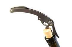 Wine Cork opener (Clipping path included) Stock Photo