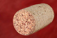 Wine cork on a red Royalty Free Stock Images