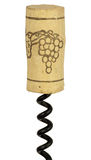 Wine cork on screw Royalty Free Stock Photography