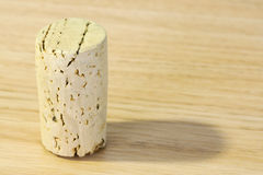 Wine cork on the table Stock Photos