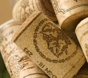 Wine Corks. Background of isolated wine corks Stock Image