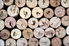 Wine corks. On a black background Royalty Free Stock Photography