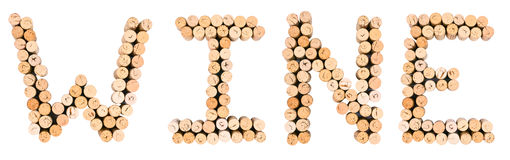 WINE by corks Royalty Free Stock Photos