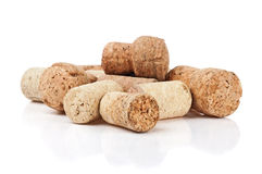 Wine corks. Isolated On White Royalty Free Stock Photos